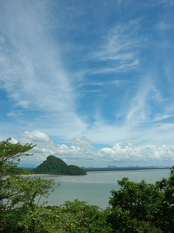 Gulf of Thailand scenic view.