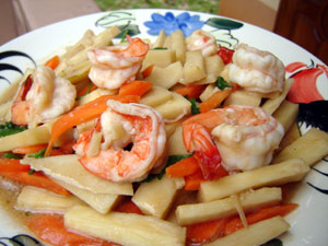 Shrimp dinner made by Joy at Joy's Try Thai Food blog