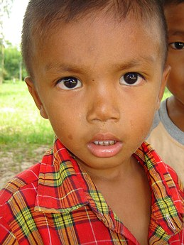 "Thai boy in a very poor province of Thailand called, ""Sisaket""."