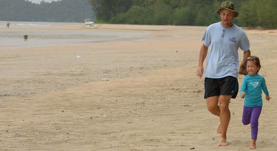 Running with Daughter - Krabi, Thailand