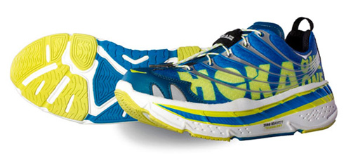 Hoka One One Blue yellow Shoes