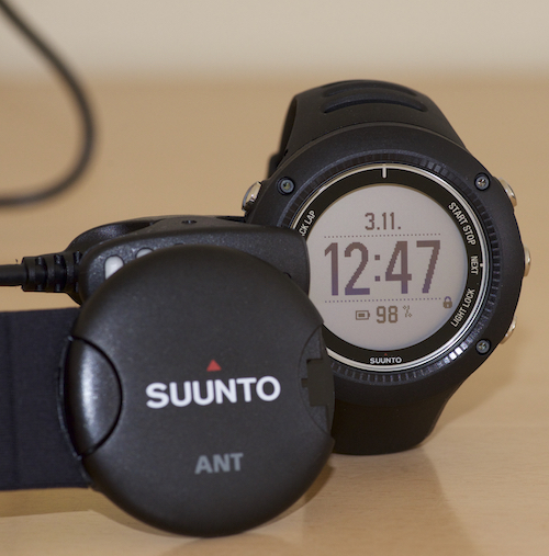 Side by side comparison Suunto Ambit2 R heart rate monitor with watch.