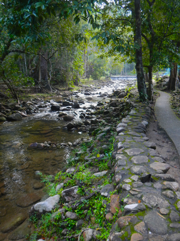 Stream at base of Gunung Raya mountain, Langkawi Island, Malaysia.