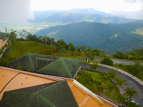 View from Tower top of Gunung Raya mountain, Langkawi, Malaysia.