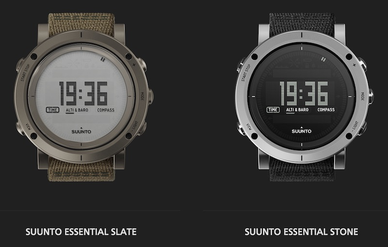 Suunto Essential Collection - Slate, Stone smart watches.