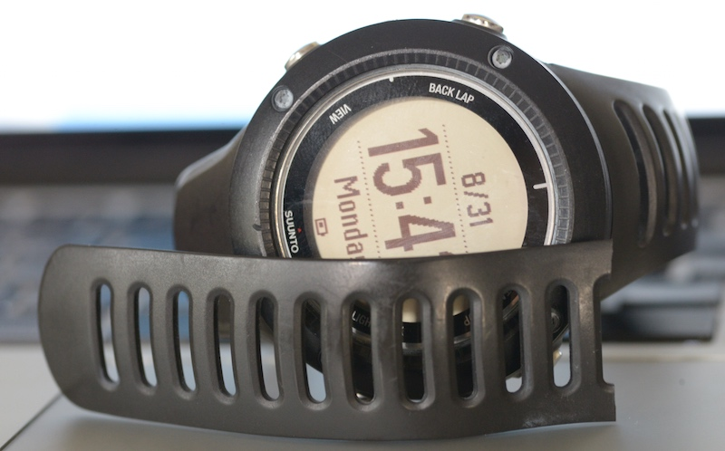 Suunto Ambit2 R GPS Runner's watch with broken watch band for wrist.