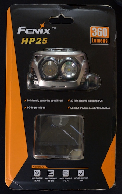 Fenix HP25 in retail box.