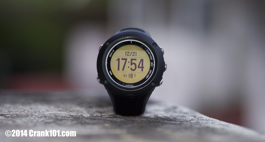 Suunto Ambit2 R GPS running watch without backlight on.